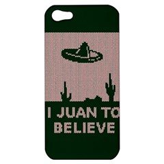 I Juan To Believe Ugly Holiday Christmas Green background Apple iPhone 5 Hardshell Case
