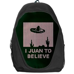 I Juan To Believe Ugly Holiday Christmas Green background Backpack Bag