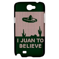 I Juan To Believe Ugly Holiday Christmas Green background Samsung Galaxy Note 2 Hardshell Case