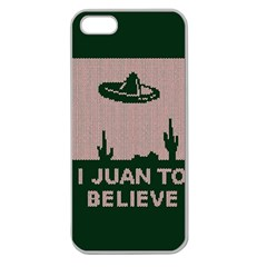 I Juan To Believe Ugly Holiday Christmas Green background Apple Seamless iPhone 5 Case (Clear)
