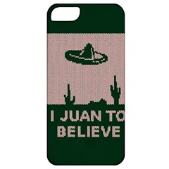 I Juan To Believe Ugly Holiday Christmas Green background Apple iPhone 5 Classic Hardshell Case