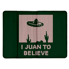 I Juan To Believe Ugly Holiday Christmas Green background Kindle Fire (1st Gen) Flip Case
