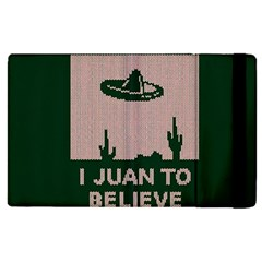 I Juan To Believe Ugly Holiday Christmas Green background Apple iPad 2 Flip Case