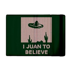 I Juan To Believe Ugly Holiday Christmas Green background Apple iPad Mini Flip Case