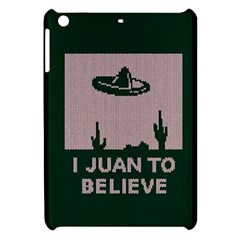 I Juan To Believe Ugly Holiday Christmas Green background Apple iPad Mini Hardshell Case