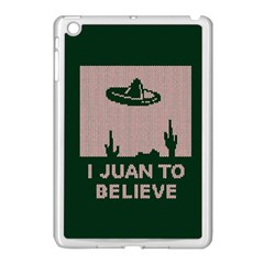 I Juan To Believe Ugly Holiday Christmas Green background Apple iPad Mini Case (White)
