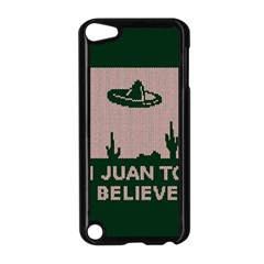 I Juan To Believe Ugly Holiday Christmas Green background Apple iPod Touch 5 Case (Black)