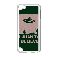 I Juan To Believe Ugly Holiday Christmas Green background Apple iPod Touch 5 Case (White)