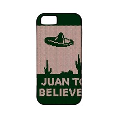 I Juan To Believe Ugly Holiday Christmas Green background Apple iPhone 5 Classic Hardshell Case (PC+Silicone)