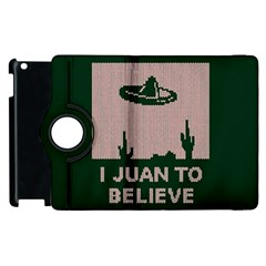 I Juan To Believe Ugly Holiday Christmas Green background Apple iPad 2 Flip 360 Case