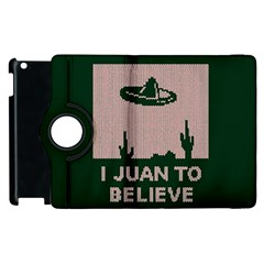 I Juan To Believe Ugly Holiday Christmas Green background Apple iPad 3/4 Flip 360 Case