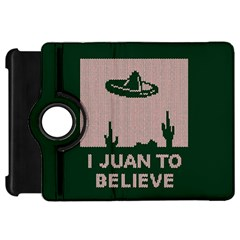 I Juan To Believe Ugly Holiday Christmas Green background Kindle Fire HD Flip 360 Case