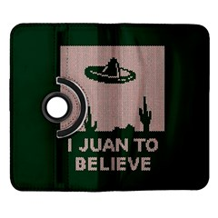 I Juan To Believe Ugly Holiday Christmas Green background Samsung Galaxy Note II Flip 360 Case