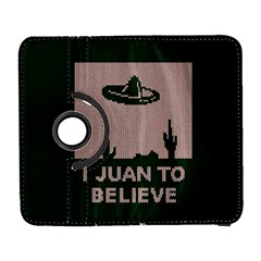 I Juan To Believe Ugly Holiday Christmas Green background Samsung Galaxy S  III Flip 360 Case