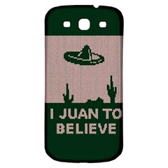 I Juan To Believe Ugly Holiday Christmas Green Background Samsung Galaxy S3 S Iii Classic Hardshell Back Case