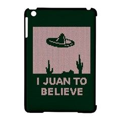 I Juan To Believe Ugly Holiday Christmas Green background Apple iPad Mini Hardshell Case (Compatible with Smart Cover)