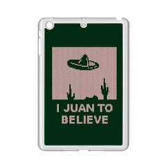 I Juan To Believe Ugly Holiday Christmas Green background iPad Mini 2 Enamel Coated Cases
