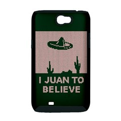 I Juan To Believe Ugly Holiday Christmas Green background Samsung Galaxy Note 2 Hardshell Case (PC+Silicone)