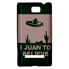I Juan To Believe Ugly Holiday Christmas Green background HTC 8S Hardshell Case