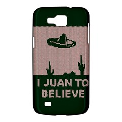 I Juan To Believe Ugly Holiday Christmas Green background Samsung Galaxy Premier I9260 Hardshell Case