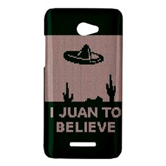 I Juan To Believe Ugly Holiday Christmas Green background HTC Butterfly X920E Hardshell Case