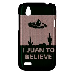 I Juan To Believe Ugly Holiday Christmas Green background HTC Desire V (T328W) Hardshell Case