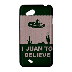 I Juan To Believe Ugly Holiday Christmas Green background HTC Desire VC (T328D) Hardshell Case