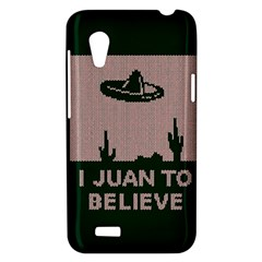 I Juan To Believe Ugly Holiday Christmas Green background HTC Desire VT (T328T) Hardshell Case