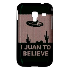 I Juan To Believe Ugly Holiday Christmas Green background Samsung Galaxy Ace Plus S7500 Hardshell Case