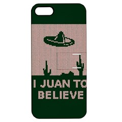 I Juan To Believe Ugly Holiday Christmas Green background Apple iPhone 5 Hardshell Case with Stand