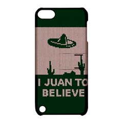 I Juan To Believe Ugly Holiday Christmas Green background Apple iPod Touch 5 Hardshell Case with Stand