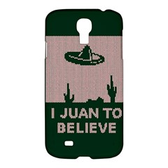 I Juan To Believe Ugly Holiday Christmas Green background Samsung Galaxy S4 I9500/I9505 Hardshell Case
