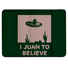 I Juan To Believe Ugly Holiday Christmas Green background Samsung Galaxy Tab 7  P1000 Flip Case