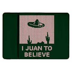I Juan To Believe Ugly Holiday Christmas Green background Samsung Galaxy Tab 8.9  P7300 Flip Case