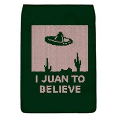 I Juan To Believe Ugly Holiday Christmas Green background Flap Covers (L)