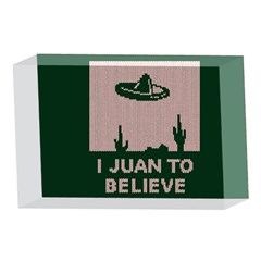 I Juan To Believe Ugly Holiday Christmas Green background 4 x 6  Acrylic Photo Blocks