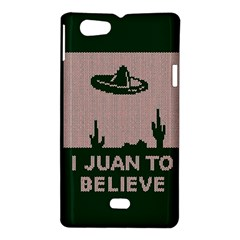 I Juan To Believe Ugly Holiday Christmas Green background Sony Xperia Miro
