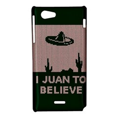 I Juan To Believe Ugly Holiday Christmas Green background Sony Xperia J