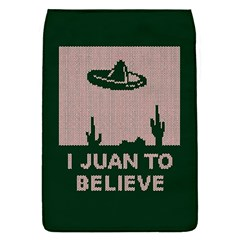 I Juan To Believe Ugly Holiday Christmas Green background Flap Covers (S)