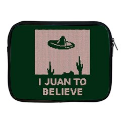 I Juan To Believe Ugly Holiday Christmas Green background Apple iPad 2/3/4 Zipper Cases