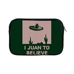 I Juan To Believe Ugly Holiday Christmas Green background Apple iPad Mini Zipper Cases