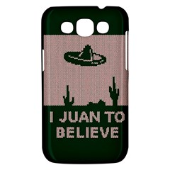 I Juan To Believe Ugly Holiday Christmas Green background Samsung Galaxy Win I8550 Hardshell Case