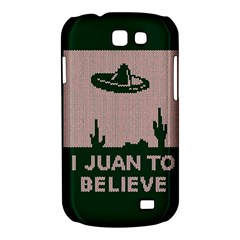 I Juan To Believe Ugly Holiday Christmas Green background Samsung Galaxy Express I8730 Hardshell Case