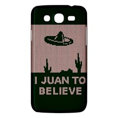 I Juan To Believe Ugly Holiday Christmas Green background Samsung Galaxy Mega 5.8 I9152 Hardshell Case