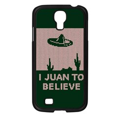I Juan To Believe Ugly Holiday Christmas Green background Samsung Galaxy S4 I9500/ I9505 Case (Black)