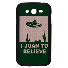I Juan To Believe Ugly Holiday Christmas Green background Samsung Galaxy Grand DUOS I9082 Case (Black)