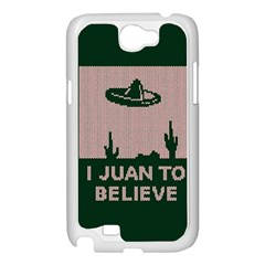 I Juan To Believe Ugly Holiday Christmas Green background Samsung Galaxy Note 2 Case (White)