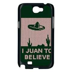 I Juan To Believe Ugly Holiday Christmas Green background Samsung Galaxy Note 2 Case (Black)