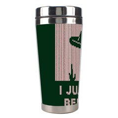 I Juan To Believe Ugly Holiday Christmas Green background Stainless Steel Travel Tumblers