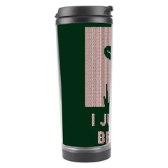 I Juan To Believe Ugly Holiday Christmas Green background Travel Tumbler